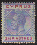 Cyprus Stamps SG 094 1922 Two and 3/4 Piastres King George V - MINT (g517)