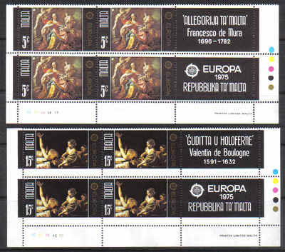 Malta Stamps SG 0543-44 1975 Europa - Block of 4 MINT (g530)