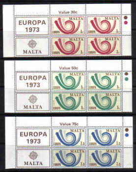 Malta Stamps SG 0501-03 1973 Europa - Block of 4 MINT (g531)