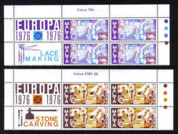 Malta Stamps SG 0562-63 1976 Europa - Block of 4 MINT (g529)