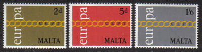 Malta Stamps SG 0449-51 1971 Europa - MINT