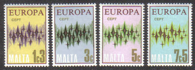 Malta Stamps SG 0478-81 1972 Europa - MINT