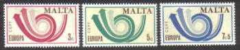 Malta Stamps SG 0501-03 1973 Europa - MINT