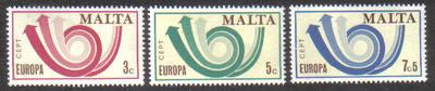 Malta Stamps SG 0501-03 1973 Europa - MINT