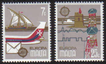 Malta Stamps SG 0625-26 1979 Europa - MINT