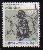 Cyprus Stamps 1993 Refugee Fund Tax SG 807 - USED (e047)