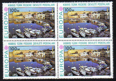 North Cyprus Stamps SG 050 1977 100m Europa - Block of 4 MINT