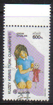 North Cyprus Stamps SG 251 1989 600TL - CTO USED (g608)