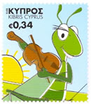 Cyprus stamps The Cricket (self-adhesive) October 2012 issue