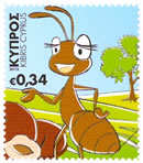 Cyprus stamps The Ant (self-adhesive) October 2012 issue
