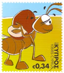 Cyprus stamps The Ant Saves Food for Winter (self-adhesive) October 2012 i