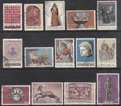 Cyprus Stamps SG 358-71 1971 3rd Definitives - USED (g673)