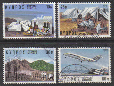 Cyprus Stamps SG 455-58 1976 Reactivation Program - USED (g669)