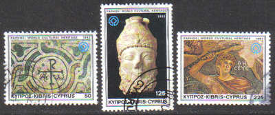 Cyprus Stamps SG 588-90 1982 World Cultural Heritage - USED (g666)