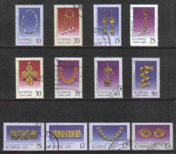 Cyprus Stamps SG 0984-85 2000 9th Definitives Jewelry - USED (g677)