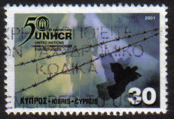 Cyprus Stamps SG 1013 2001 UN High Commissioner for refugees - USED (g659)