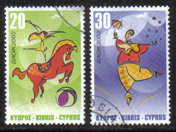Cyprus Stamps SG 1029-30 2000 Europa Circus - USED (g655)