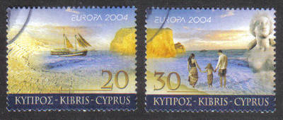 Cyprus Stamps SG 1073-74 2004 Europa Holidays - USED (g649)