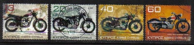 Cyprus Stamps SG 1128-31 2007 Motorcycles - USED (g644)