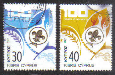 Cyprus Stamps SG 1133-34 2007 Europa Scouting - USED (g639)