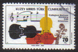 North Cyprus Stamps SG 165 1984 Visit of the Nurnburg Chamber Orchestra - USED (g631)