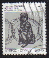 Cyprus Stamps 1988 Refugee Fund Tax SG 729 - USED (g594)