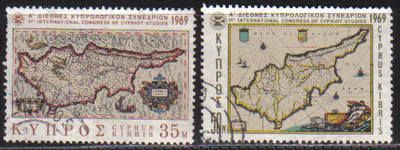 Cyprus Stamps SG 329-30 1969 1st Cypriot Studies - USED (c275)