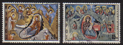 Cyprus Stamps SG 340-41 1969 Christmas - USED (g294)