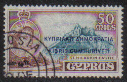 Cyprus Stamps SG 198 1960 Definitives 50 Mils - USED (g685)