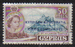 Cyprus Stamps SG 198 1960 Definitives 50 Mils - USED (g686)