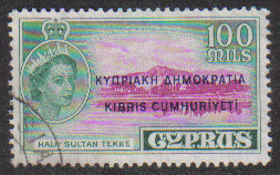 Cyprus Stamps SG 199 1960 Definitives 100 Mils - USED (g689)