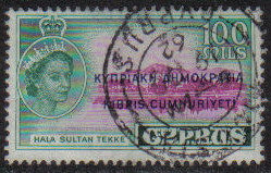 Cyprus Stamps SG 199 1960 Definitives 100 Mils - USED (g690)