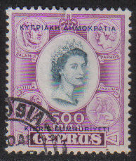 Cyprus Stamps SG 201 1960 Definitive 500 Mils - USED (g694)
