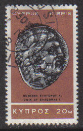 Cyprus Stamps SG 287 1966 2nd Definitives Antiquities 20 Mils - USED (g715)