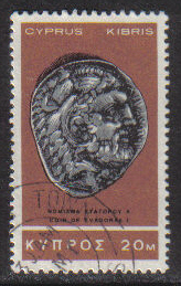 Cyprus Stamps SG 287 1966 2nd Definitives Antiquities 20 Mils - USED (g716)