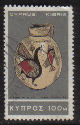 Cyprus Stamps SG 293 1966 2nd Definitives Antiquities 100 Mils - USED (g723