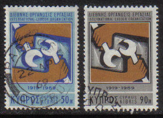 Cyprus Stamps SG 327-28 1969 I.L.O - USED (g726)