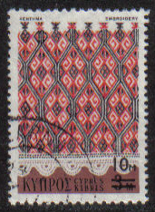 Cyprus Stamps SG 451 1976 10m/3m Surcharge - USED (g728)