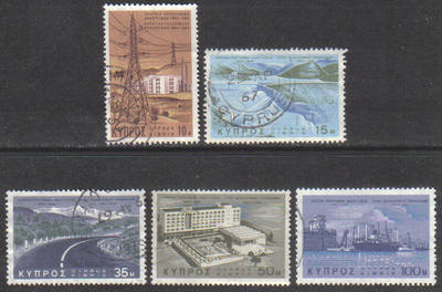 Cyprus Stamps SG 297-01 1967 Development Program - USED (g751)