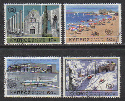 Cyprus Stamps SG 309-12 1967 Tourist Year - USED (g753)
