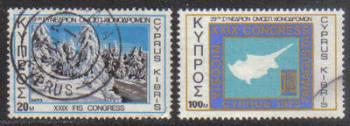 Cyprus Stamps SG 401-02 1973 29th International Ski Federation Congress - USED (g767)