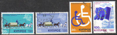 Cyprus Stamps SG 439-42 1975 Anniversaries and Events - USED (g773)