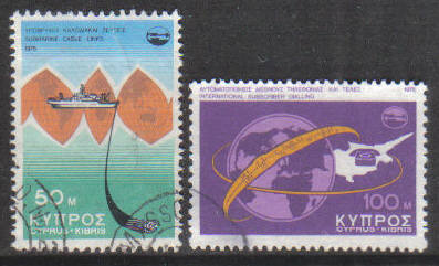 Cyprus Stamps SG 449-50 1975 Telecommunication achievements - USED (g776)