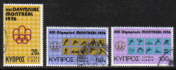 Cyprus Stamps SG 471-73 1976 Montreal Olympic Games - USED (g779)