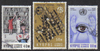 Cyprus Stamps SG 475-77 1976 Anniversaries and Events - USED (g781)