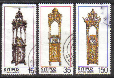 Cyprus Stamps SG 515-17 1978 Christmas - USED (g793)