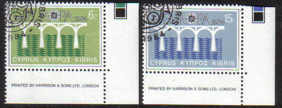 Cyprus Stamps SG 632-33 1984 Europa bridge - USED (d295)