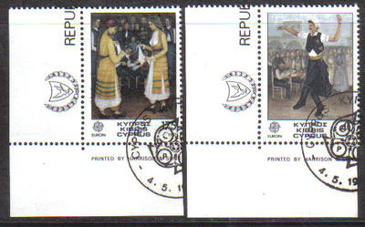 Cyprus Stamps SG 567-68 1981 Europa Folklore - USED (d198)