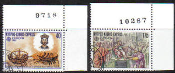 Cyprus Stamps SG 586-87 1982 Europa Historic events - USED (d279)