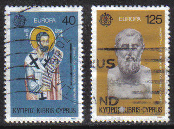Cyprus Stamps SG 540-41 1980 Europa Personalities - USED (g806)